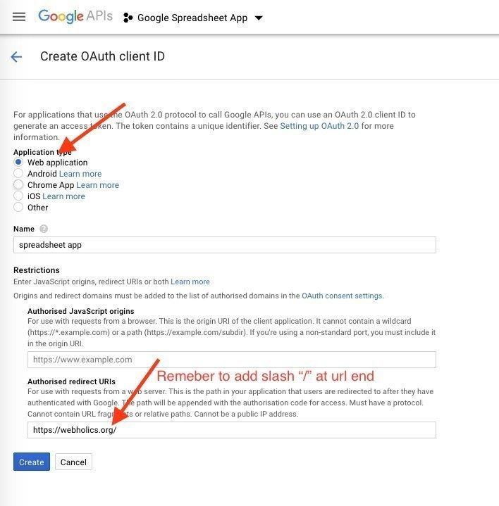 Get Client ID & Client Secret for Google Authorization