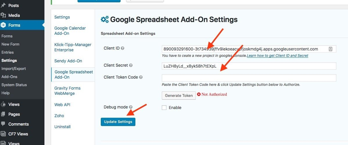 How to Integrate Google Spreadsheet with Gravity Forms